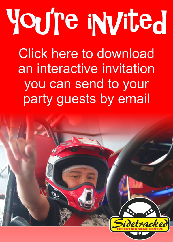 Download a Sidetracked interactive party invitation